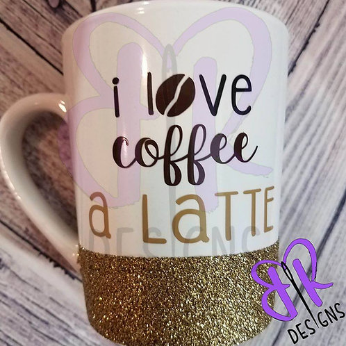 COFFEE CUPS WITH GLITTER