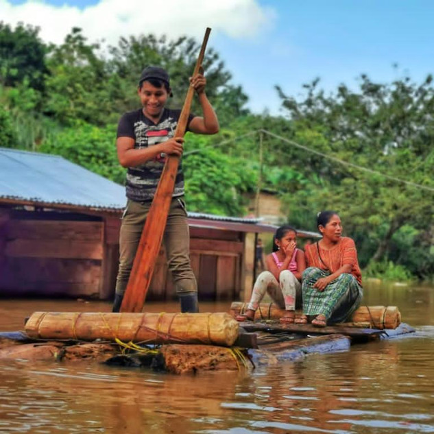 Boy and Flood raft.JPG