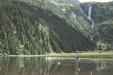 Pêche dans le lac