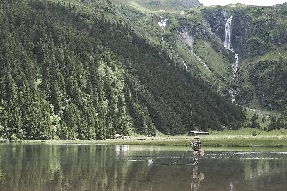 La pesca en el lago