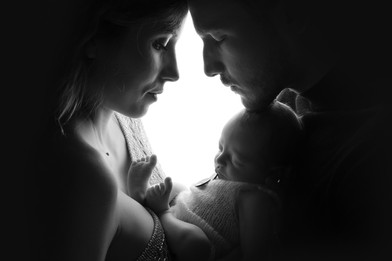 photo maman papa et bébé