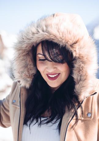 Portrait dans la neige