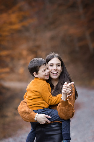 séance photo famille en extérieur automne
