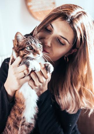Séance portrait avec chat