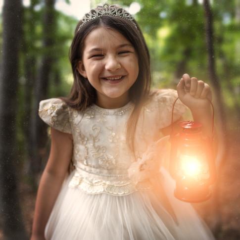 Conte de fée en forêt