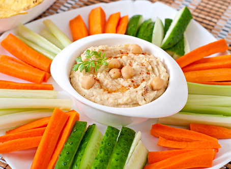 Hungarian Hummus Vegetable Dip