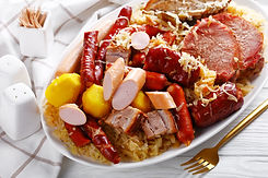 Choucroute garnie one -pot french meal: