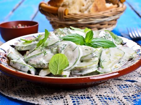 Hungarian Creamy Cucumber Salad