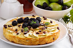 Kugel traditional dish baked pasta pie with apples.jpg