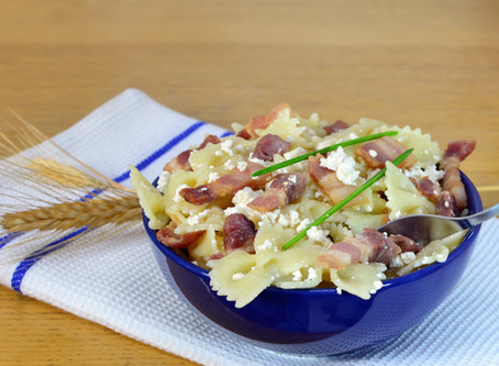 Hungarian Bacon Cottage Cheese Pasta