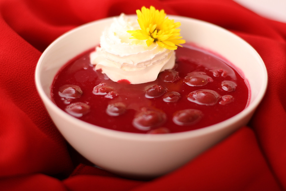 Chilled Sour Cherry Soup (Meggyleves)