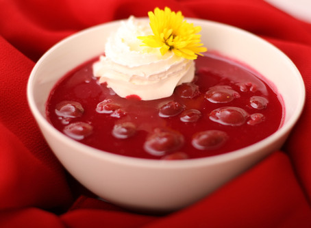 Hungarian Chilled Sour Cherry Soup (Meggyleves)