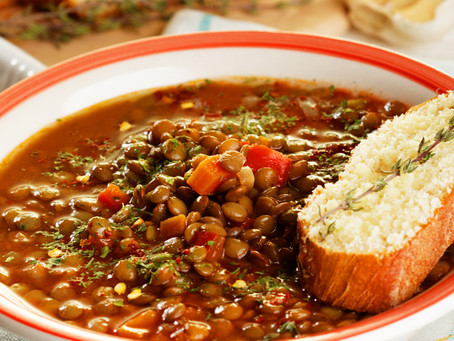 Hungarian Spicy Lentil Soup                  for Chilly Nights