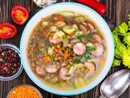 Hungarian Sausage and Lentil Soup