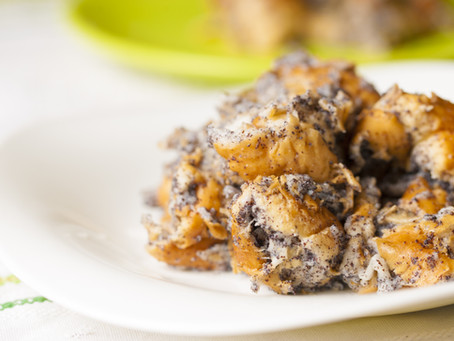 Hungarian Poppy Seed Bread Pudding            (Mákos Guba)