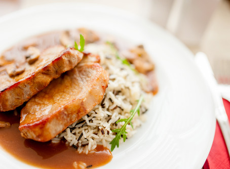 Hungarian Pork Chops and Rice