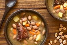 Traditional Hungarian Babgulyas bean gou