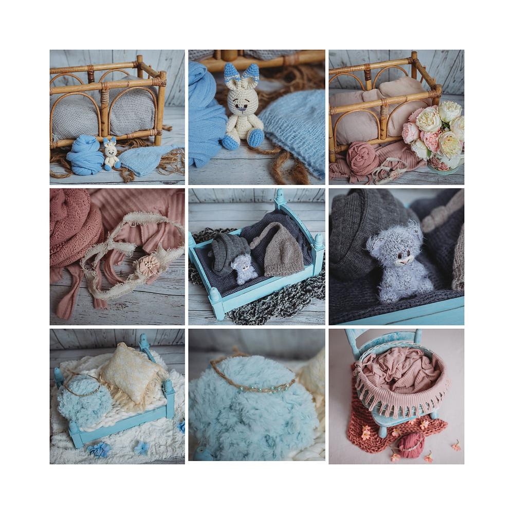 auckland studio newborn photography, setups