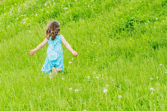 outdoor portrait of happy child