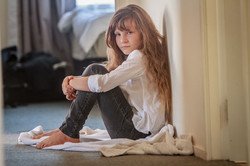 indoor portrait of child girl