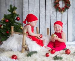 studio christmas children portrait