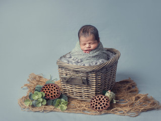 Newborn photography at your own place