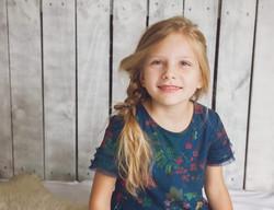 studio portrait of child girl