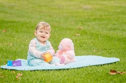 outdoor portrait of child girl