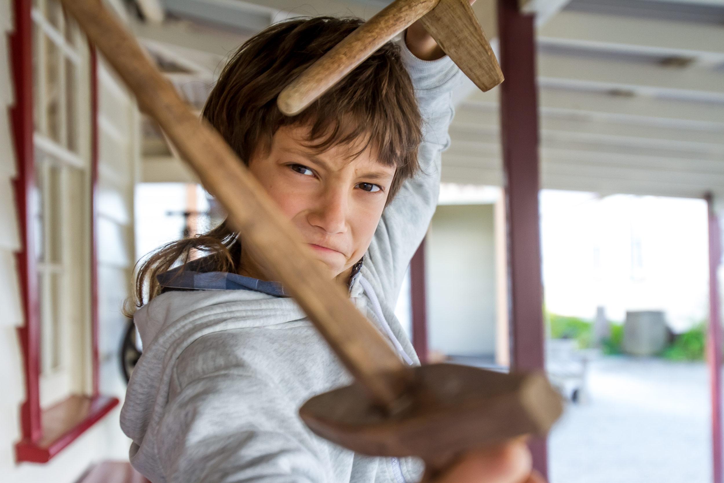 outdoor portrait of a child boy