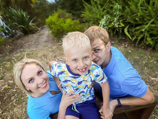Family walk, Western Springs park, Auckland