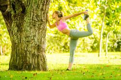 outdoor portrait of fitness girl