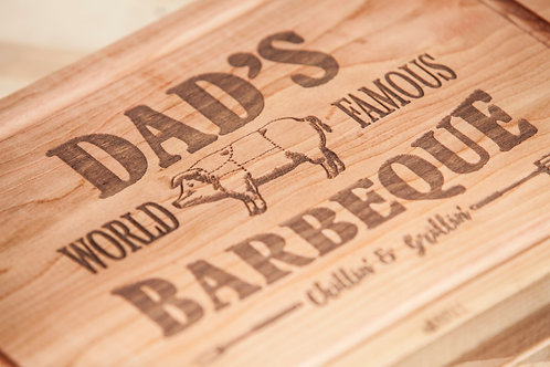 Tabla de cortar Dads world famous Barbeque