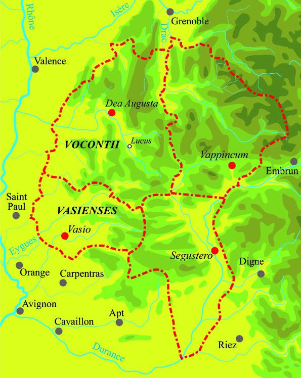 Vocontii territory