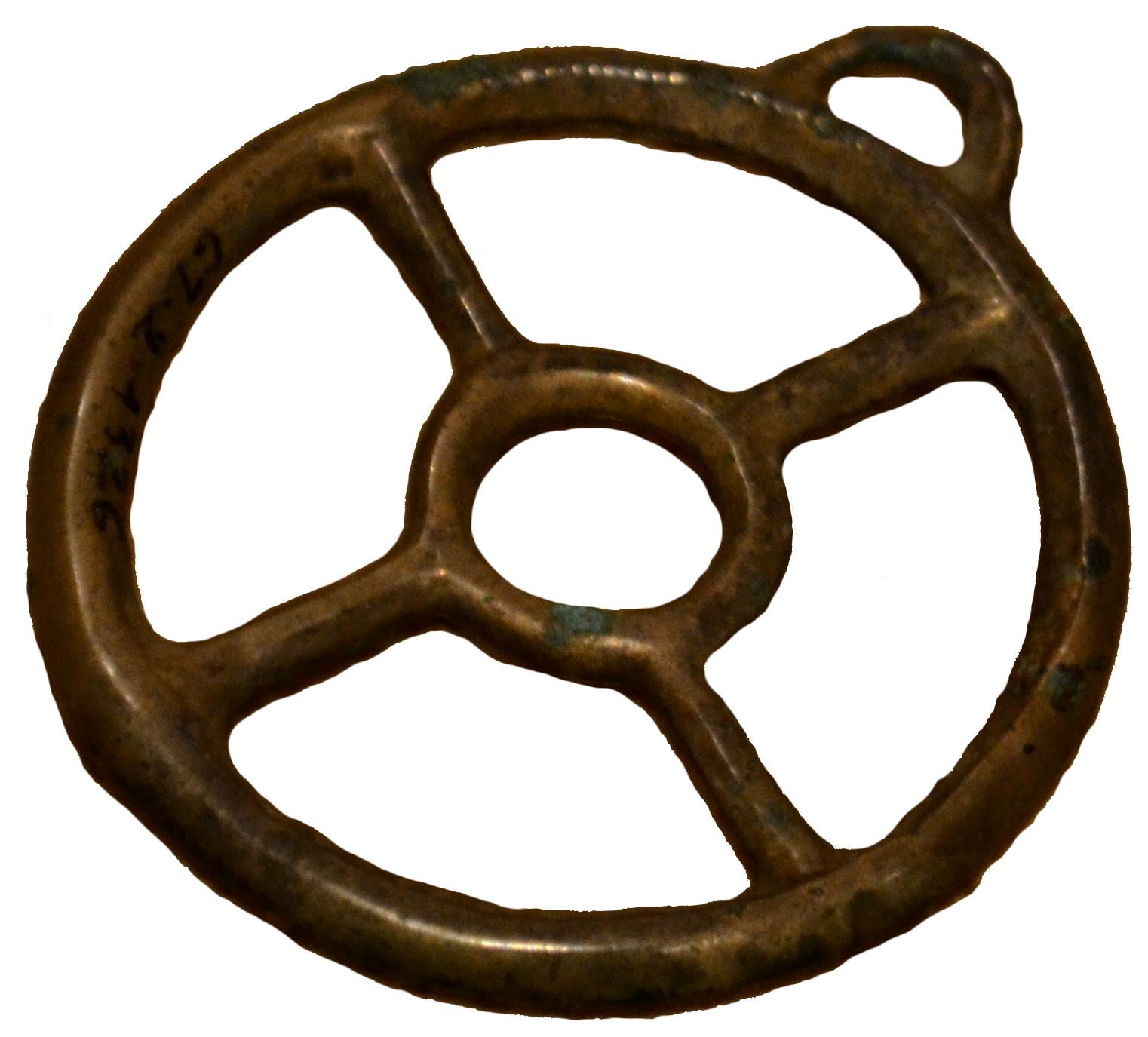 Pendentif en forme de rouelle, Trésor de Charens