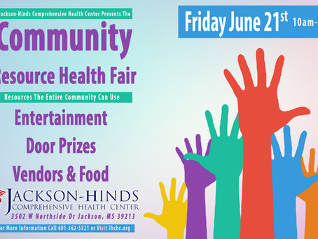 JHCHC Invites You to The Community Resource Health Fair