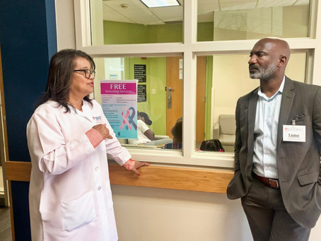 Jackson Public Schools Superintendent Visits Jackson-Hinds Comprehensive Health Center