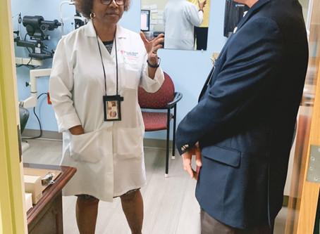 Lt. Governor Candidate Rep. Jay Hughes Visits Jackson-Hinds Comprehensive Health Center
