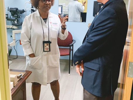 Lt. Governor Candidate Rep. Jay Hughes Visits Jackson-Hinds Comprehensive Health Center