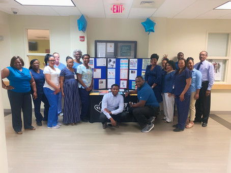 JHCHC Goes Blue for National Men's Health Month.