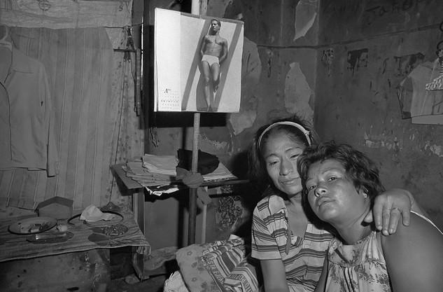 Prostitutes living in the ruins in Managua
