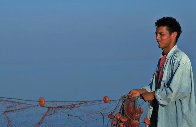 Fisherman in Tunesia
