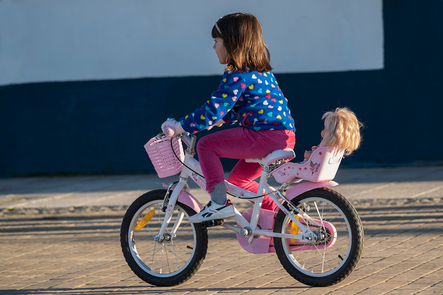 Girl on bycycle