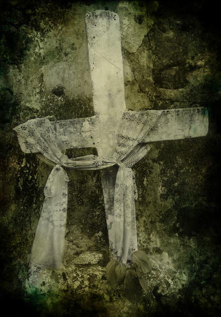 Cross in cemetary