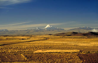 The Andes mountains in Bolivia