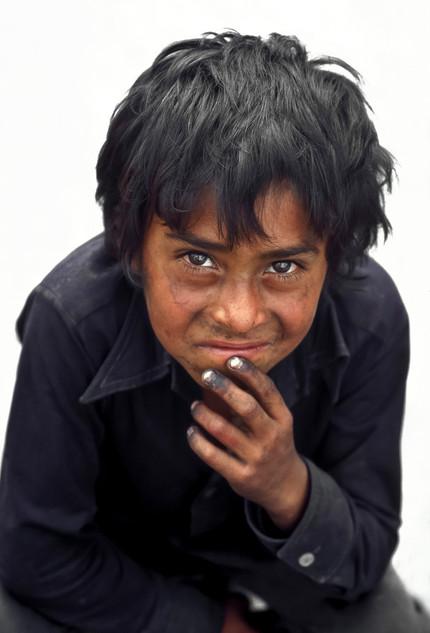 Shoeshine boy in Guatamala