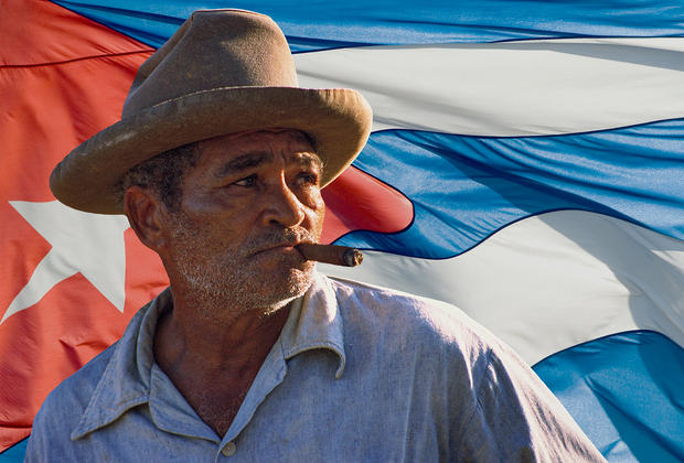 Cuban cigar smoker