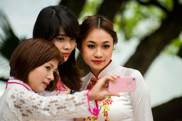 Girls attending a wedding