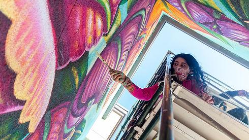 female muralist