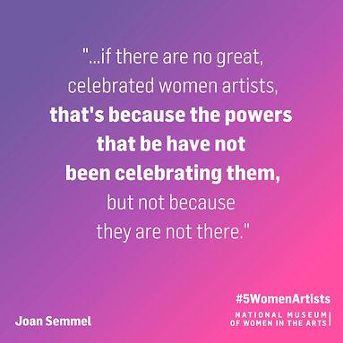#5WomenArtists Quote_Joan Semmel_square_