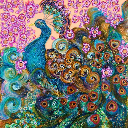 peacock hand drawn art